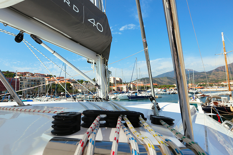 cordage-bout-catamaran-leopard-port